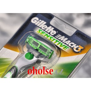 Holící strojek GILLETTE MACH3 SENSITIVE POWER + 1 žiletka + 1 baterie AAA